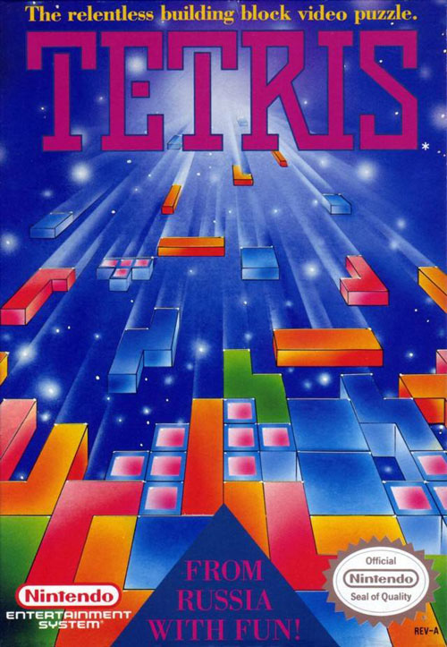 Original Nintendo Entertainment System (NES) Tetris Cover