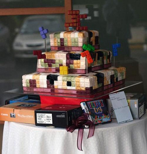 Tetris Wedding Cake